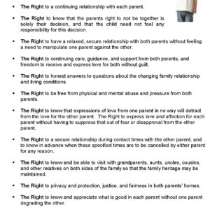 A Bill Of Rights for a Child of Separation